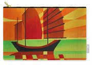Junk On A Sea Of Green Carry-all Pouch by Tracey Harrington-Simpson