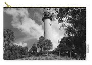 Jupiter Inler Lighthouse In Black And White Carry-all Pouch