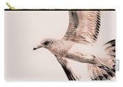 Just A Seagull Carry-all Pouch by Deborah Benoit