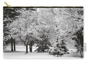 Just After A Snowfall Carry-all Pouch by Mary Machare
