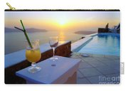 Just Before Sunset In Santorini Carry-all Pouch