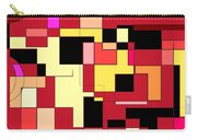 Just Colors And Lines Red Carry-all Pouch