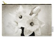 Just Plain Daffy 1 B W - Flora - Spring - Daffodil - Narcissus - Jonquil Carry-all Pouch