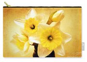 Just Plain Daffy 1 - Flora - Spring - Daffodil - Narcissus - Jonquil Carry-all Pouch