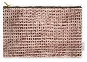 Jute Background Carry-all Pouch