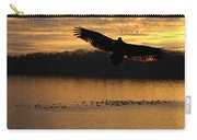 Juvenile Eagle Golden Sunset Carry-all Pouch