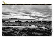 Kaikoura Coast New Zealand In Black And White Carry-all Pouch
