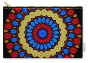 Kaleidoscope Of Colorful Embroidery Carry-all Pouch