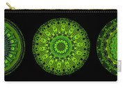 Kaleidoscope Triptych Of Glowing Circuit Boards Carry-all Pouch