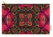 Kaleidscope Made From Image Of Coleus Plant Carry-all Pouch