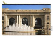 Kansas City Fountain At Union Station Carry-all Pouch by Andee Design