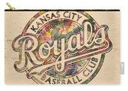 Kansas City Royals Logo Vintage Carry-all Pouch