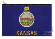 Kansas State Flag Carry-all Pouch by Pixel Chimp