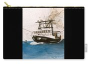 Karis Trawl Fishing Boat Nautical Chart Art Carry-all Pouch