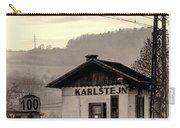 Karlstejn Railroad Shack Carry-all Pouch by Joan Carroll