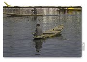 Kashmiri Men Rowing Many Small Wooden Boats In The Waters Of The Dal Lake Carry-all Pouch