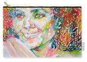 Kathleen Battle - Watercolor Portrait Carry-all Pouch