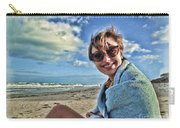 Katie And The Beach Carry-all Pouch