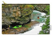 Kayakers In Maligne Canyon In Jasper Np-alberta Carry-all Pouch