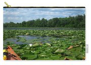 Kayaking Among The Waterlillies Carry-all Pouch