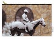 Keeneland In Winter Carry-all Pouch by Sid Webb
