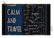 Keep Calm And Travel On Nova Scotia Crosswords Carry-all Pouch
