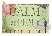 Keep Calm-trust In Jesus-3 Carry-all Pouch