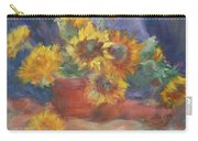 Keep On The Sunny Side - Original Contemporary Impressionist Painting - Sunflower Bouquet Carry-all Pouch