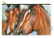 Horse Painting Keeping Watch Carry-all Pouch