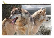Keeping Watch - Pair Of Wolves Carry-all Pouch