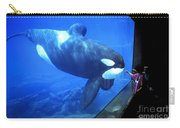 Keiko The Killer Whale Oregon Coast Aquarium Pat Hathaway Photo  1996 Carry-all Pouch