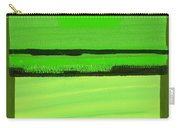 Kensington Gardens Series Green On Green Oil On Canvas Carry-all Pouch