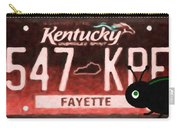 Kentucky License Plate Carry-all Pouch