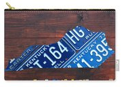 Kentucky License Plate Map The Bluegrass State Carry-all Pouch
