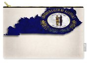 Kentucky Map Art With Flag Design Carry-all Pouch