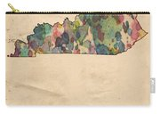 Kentucky Map Vintage Watercolor Carry-all Pouch