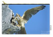 Kestrel With Lizard Carry-all Pouch