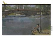 Kew Bridge, 2009 Oil On Canvas Carry-all Pouch