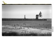 Kewaunee Lighthouse In Bandw Carry-all Pouch