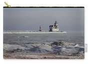 Kewaunee Lighthouse In Winter Carry-all Pouch