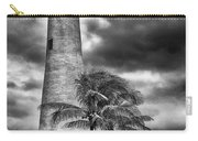 Key Biscayne Fl Lighthouse Black And White Img 7167 Carry-all Pouch