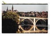 Key Bridge And Georgetown University Washington Dc Carry-all Pouch