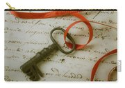 Key On Red Ribbon Carry-all Pouch