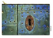 Keyhole On A Blue And Green Door Carry-all Pouch