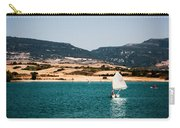 Kid Sailing On A Lake Carry-all Pouch