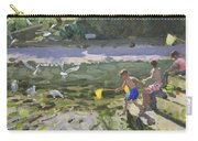 Kids And Seagulls Carry-all Pouch