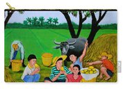 Kids Eating Mangoes Carry-all Pouch by Cyril Maza