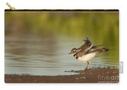 Killdeer Fluffing Up On The Shore  Carry-all Pouch