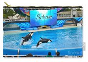 Killer Whales Perform In Shamu Stadium At Seaworld. Carry-all Pouch