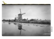 Kinderdijk In Black And White Carry-all Pouch
